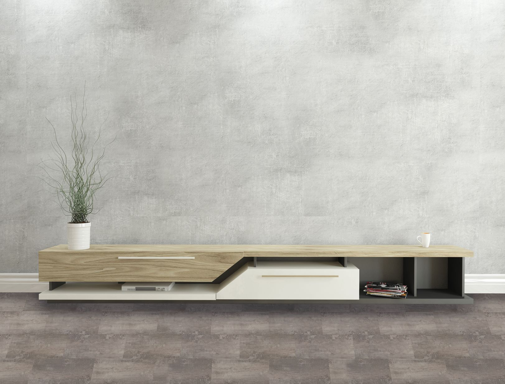designclic extreme 0,5 stone marmor dunkelgrau mit